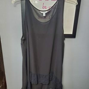 Boutique sheer tank size 0